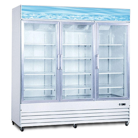 "Nella 78"" 3 Door Swing Glass Cooler - 50052"