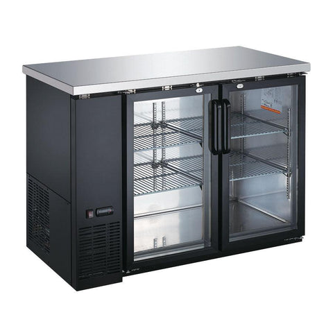 "Nella 49"" Glass 2 Door Back Bar Cooler - 50058"