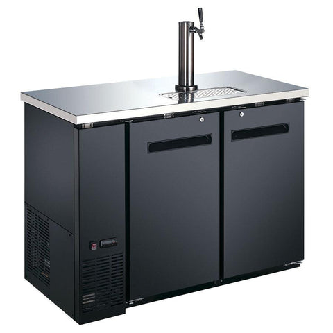 "Nella 49"" Solid 2 Door Beer Dispenser with 1 Tap - 50063"
