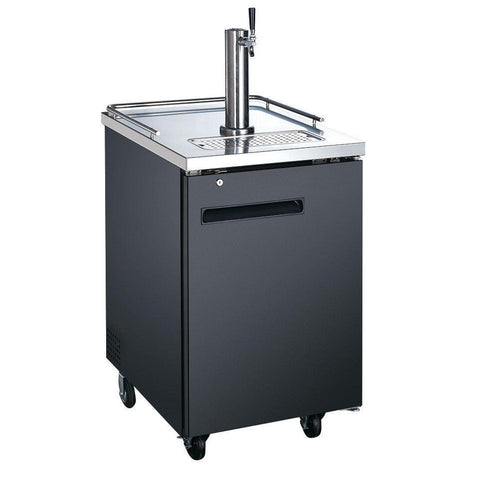 "Nella 23.5"" Single Solid Door Beer Dispenser with 1 Tap - 50066"