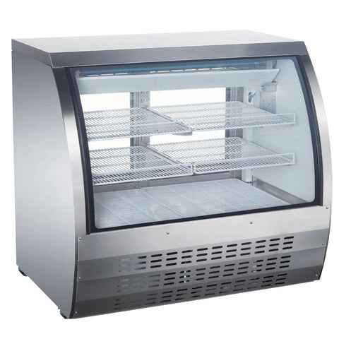 "Nella 47"" Stainless Steel Refrigerated Display Case - 50079"
