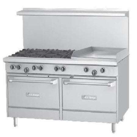 "US RANGE 60"" RANGE WITH 24"" GRIDDLE - U60-6G24RR - Nella Cutlery Toronto"