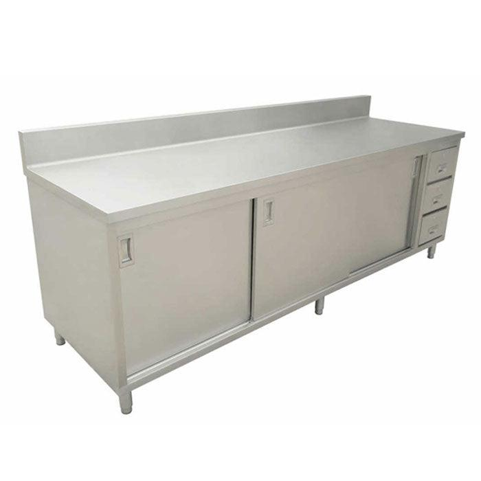 Nella X Stainless Steel Work Table With Cabinet - 30 x 60 stainless steel work table