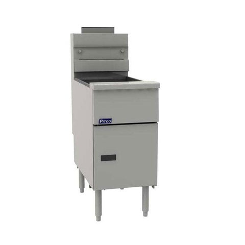 Pitco VF35S 35 lb Tube Fired Gas Floor Fryer - Natural Gas