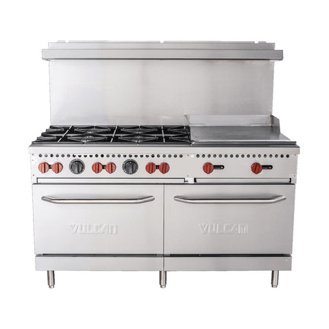 "Vulcan SX60-6B24G Natural Gas 60"" SX Series Value Range With Griddle- 258,000 Btu"
