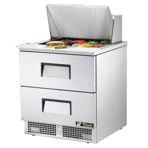 "True TFP-32-12M-D-2 32"" Mega Top 2-Drawer Food Prep Table"