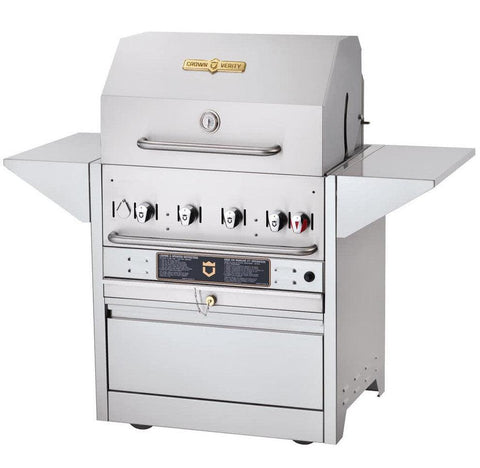 "Crown Verity MBI-36 Hotel Series 36"" Natural Gas Cart Grill - 79,500 Btu - Nella Cutlery Toronto"