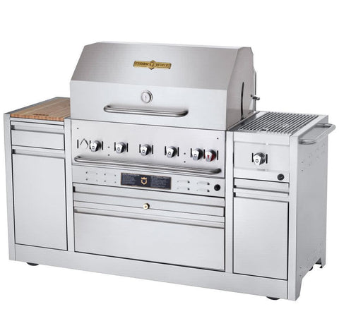 "Crown Verity MBI-36I Hotel Series 36"" Hotel Island BBQ Grill - Natural Gas - Nella Cutlery Toronto"