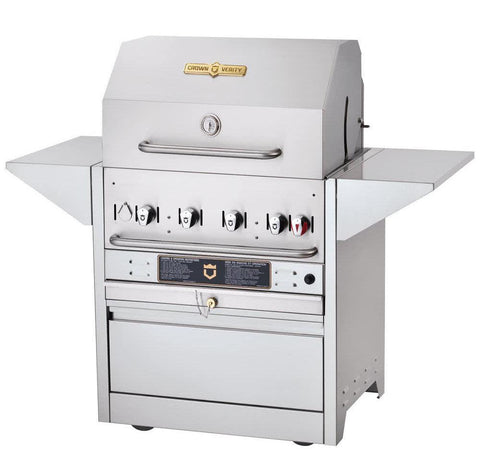 "Crown Verity MBI-30 Hotel Series 30"" Liquid Propane Cart Grill - 64,500 Btu - Nella Cutlery Toronto"