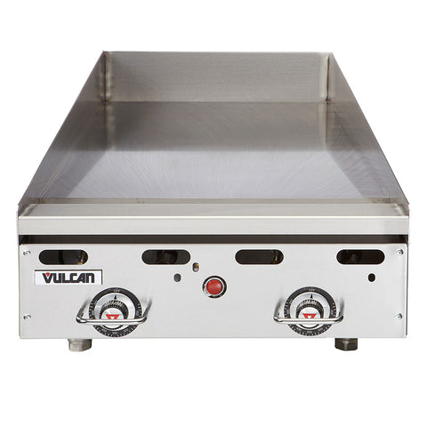 "Vulcan MSA24 Heavy-Duty 24"" Countertop Thermostatic Natural Gas Griddle - 54,000 BTU"