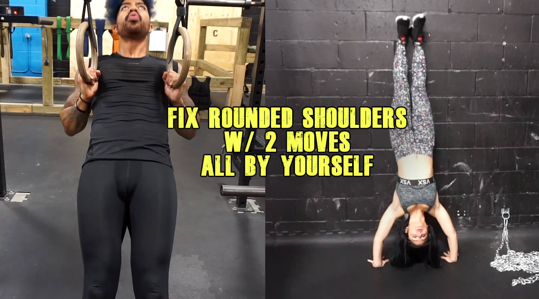 Fix Rounded Shoulders by MYSELF with 2 Exercises!!