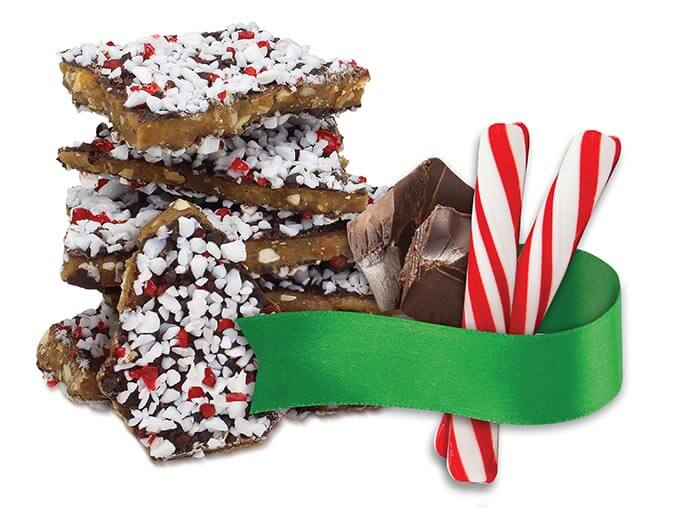 Dark Chocolate Peppermint Toffee 4 oz Pouch Best Toffee | Dave's Sweet Tooth Toffee