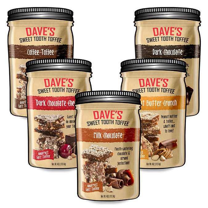POUCH COLLECTION Best Toffee | Dave's Sweet Tooth Toffee