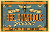 Vintage Bee Conscious Pendants Tee (More Colors)