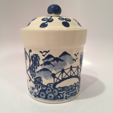 Small Blue Willow Canister