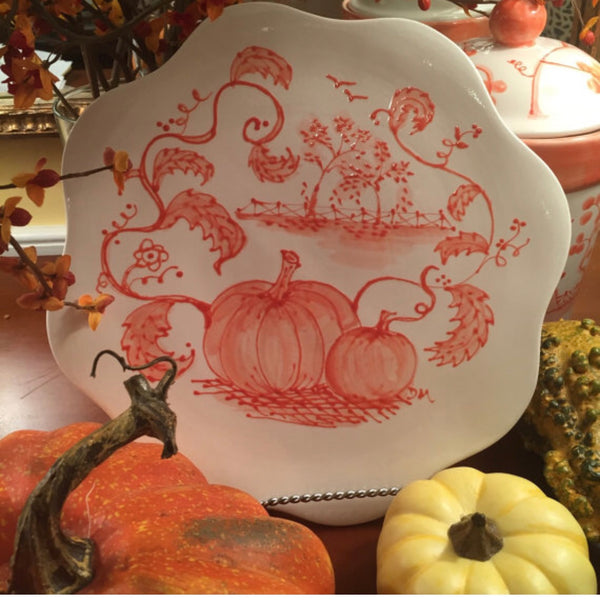 Scalloped Pumpkin Plate