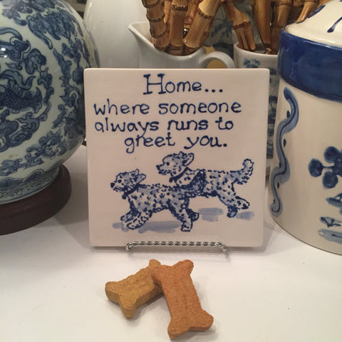 Home Is Where.....Double Goldendoodle Trivet
