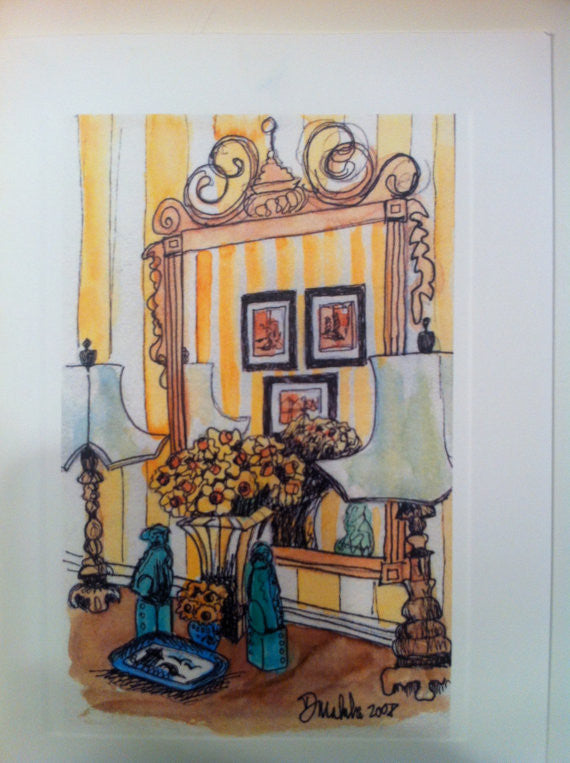 Yellow Foyer Notecards
