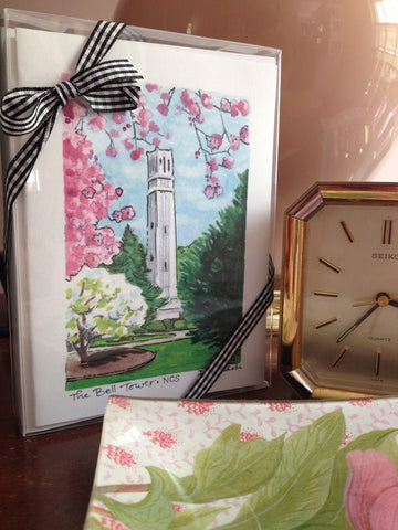 NC State Bell Tower Notecards