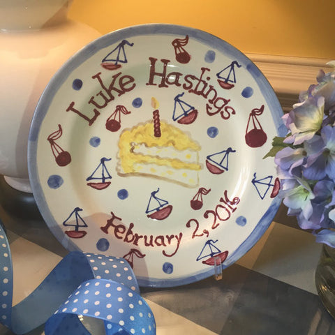 Personalized Birthday Plate - Boy