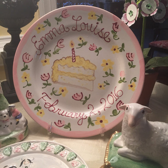Personalized Birthday Plate - Girl