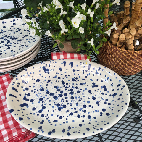 Dappled Blue Platter