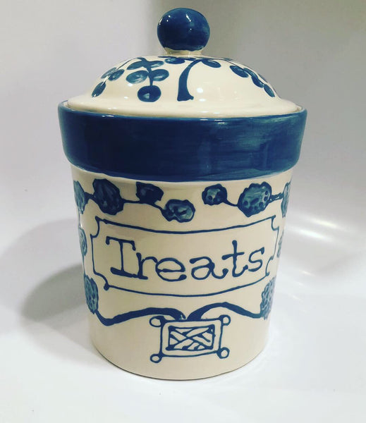 Blue Treat Canister
