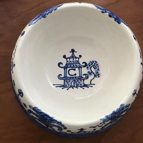 Chinoiserie Personalization for Large Bowls
