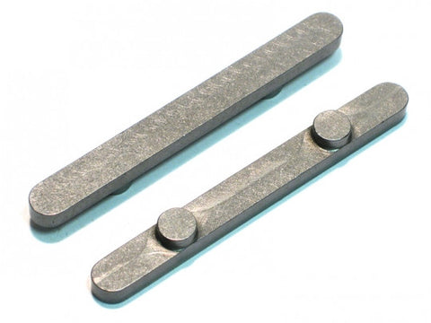"PKT 1/4"" x 60mm Axle Key 6mm Pegs"