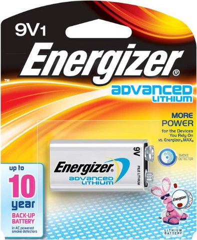 Energizer 9V Lithium Battery for Mychron