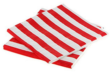 red and white stripe napkins