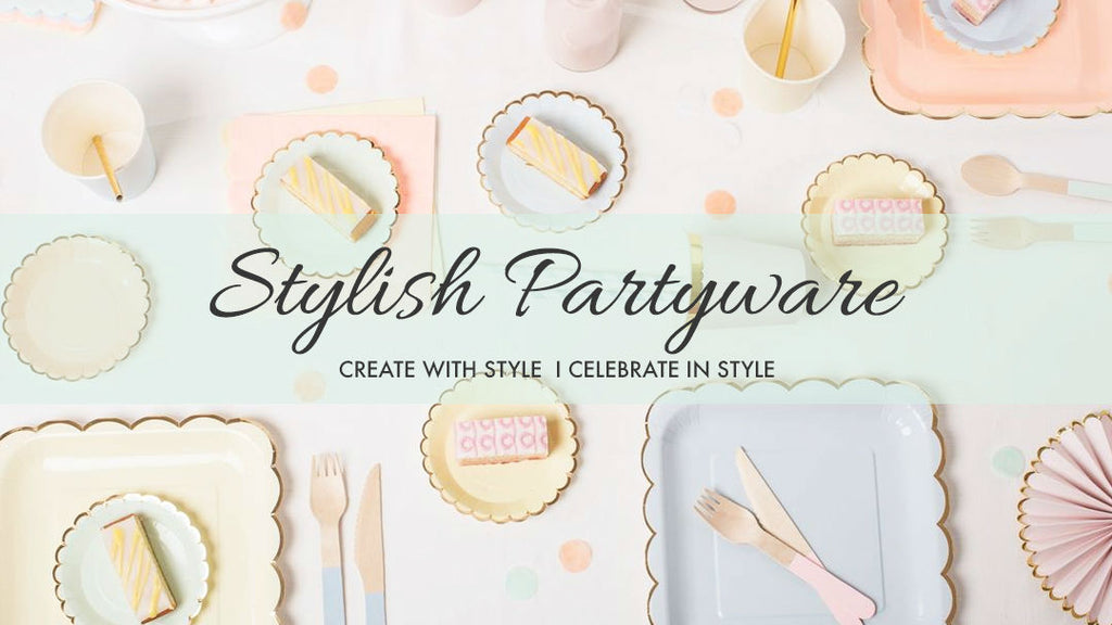stylish partyware and party decorations