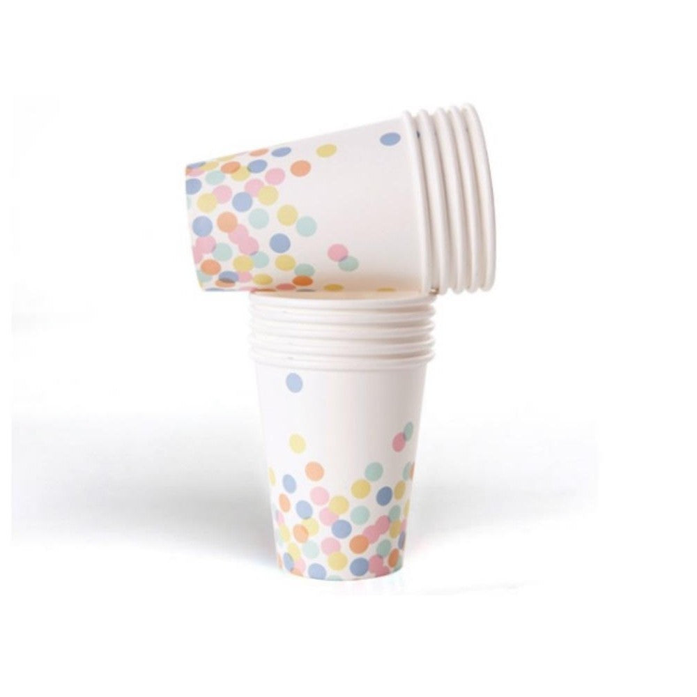 CONFETTI DOT CUPS <BR>(10 pack)