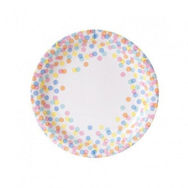 CONFETTI DOT <BR>PAPER PLATES (10 pack)