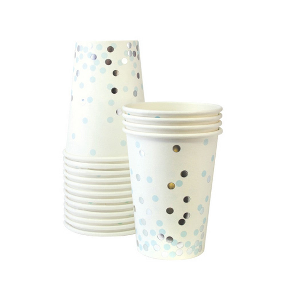 BLUE CONFETTI CUPS<br>(12 pack)
