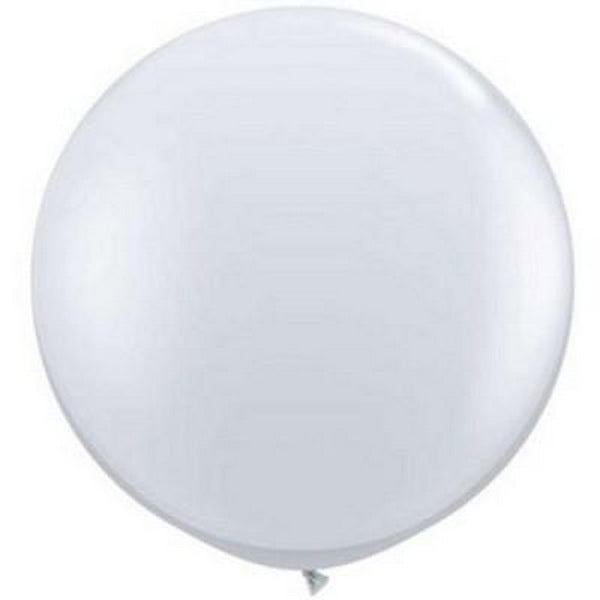 JEWEL DIAMOND CLEAR <BR> GIANT BALLOONS 90CM (2 pack)