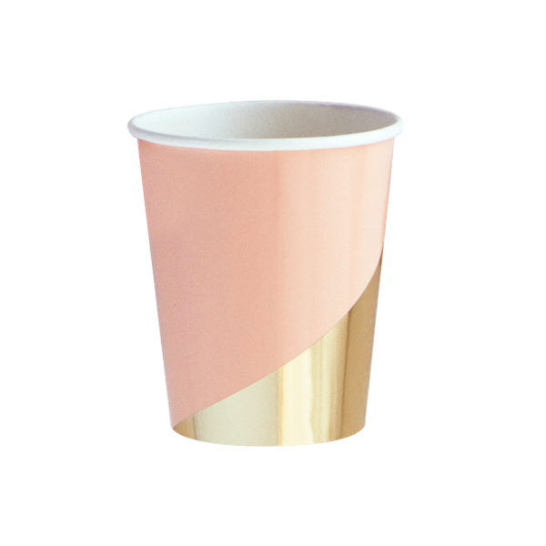 COLOUR BLOCK CUPS <BR>(8 pack)