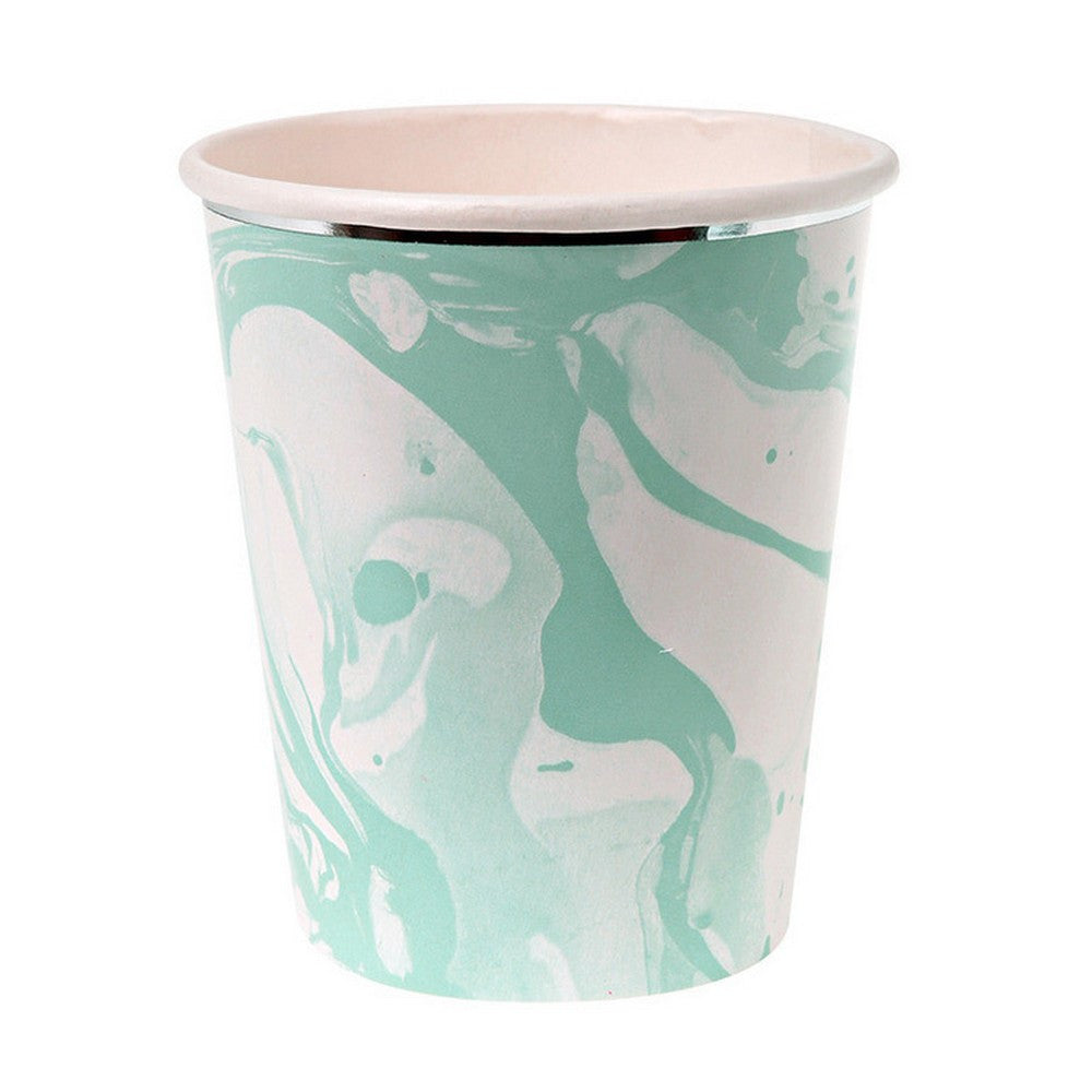 MINT MARBLE CUPS (8 pack)
