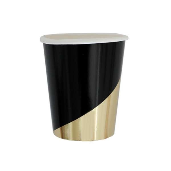 NOIR - COLOUR BLOCK CUPS (8 pack)