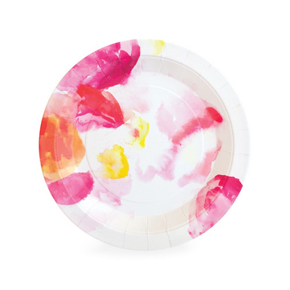 FLORAL ESCAPE PLATES<br>(12 pack)