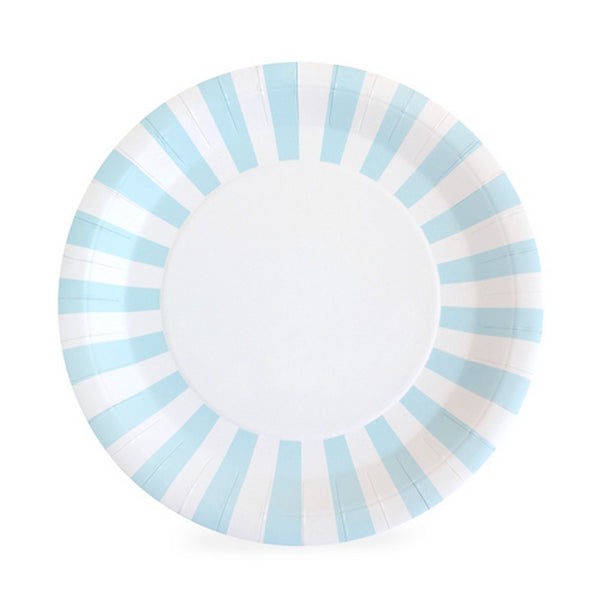 POWDER BLUE PLATES<br>(12pack)
