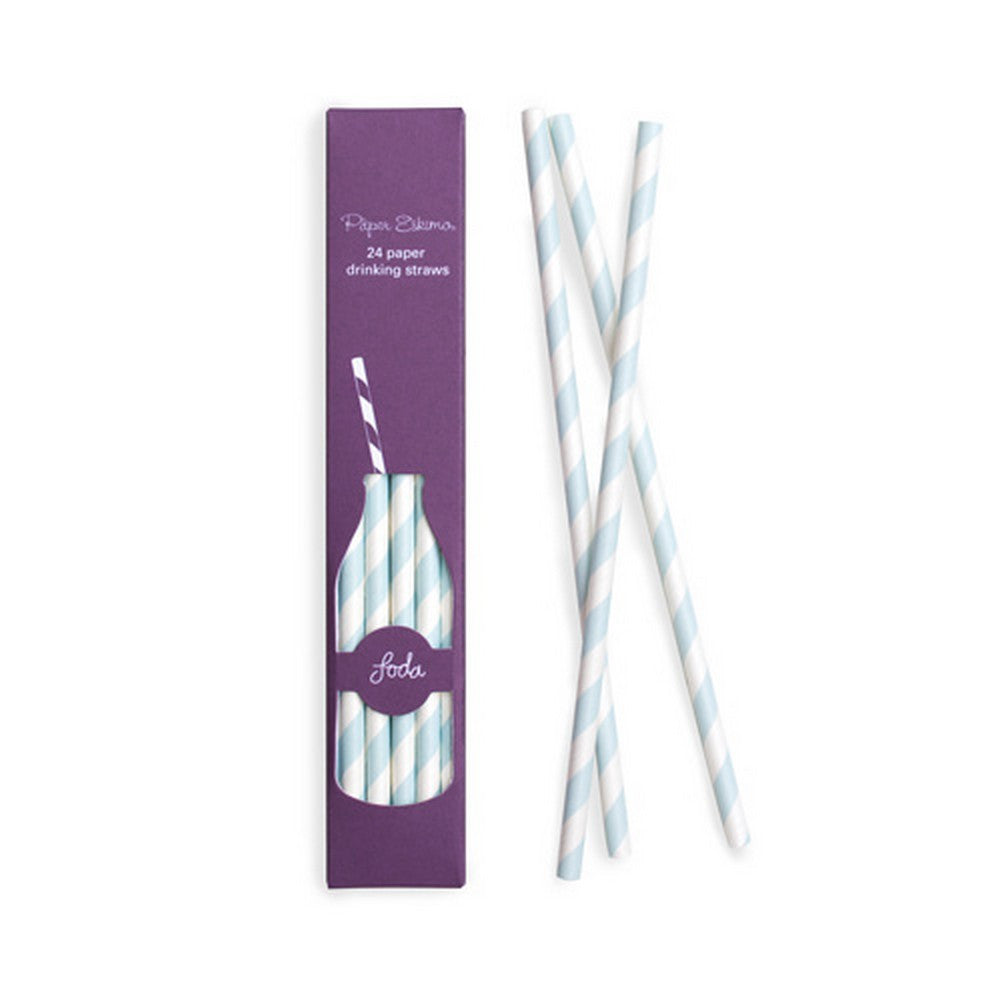POWDER BLUE STRAWS<br>(24 pack)