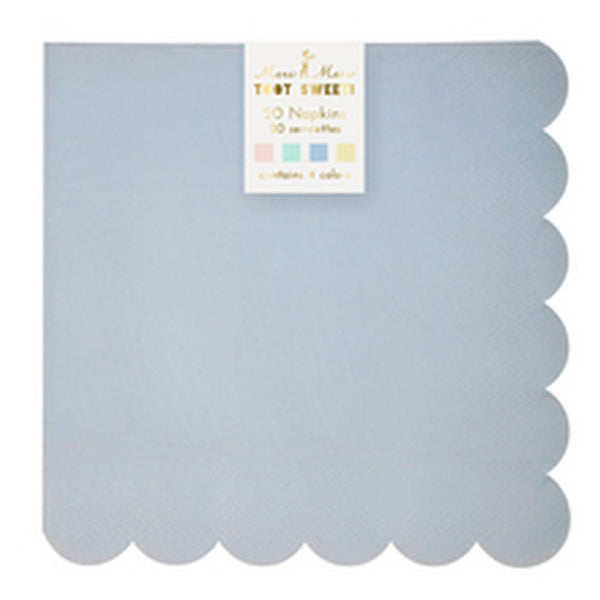 PASTEL LARGE NAPKINS <BR>(20 pack)