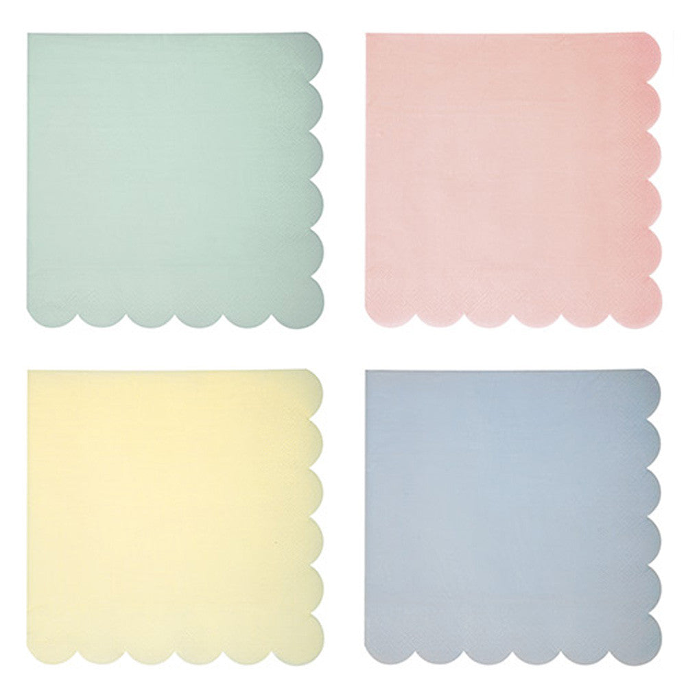 PASTEL SMALL NAPKINS<BR> (20 pack)