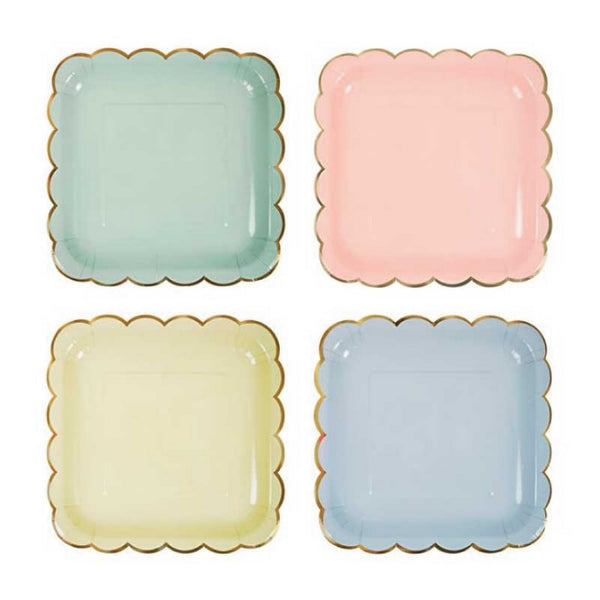 PASTEL LARGE PLATES<BR> (8 pack)