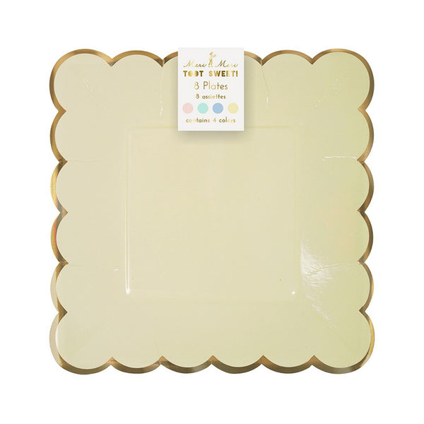 PASTEL SMALL PLATES<BR> (8 pack)