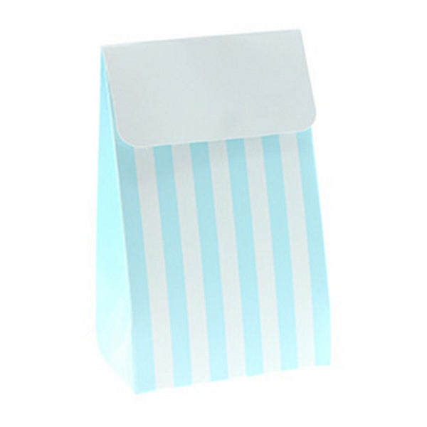 BLUE & WHITE STRIPE<BR>TREAT BOX BAG (12 pack)