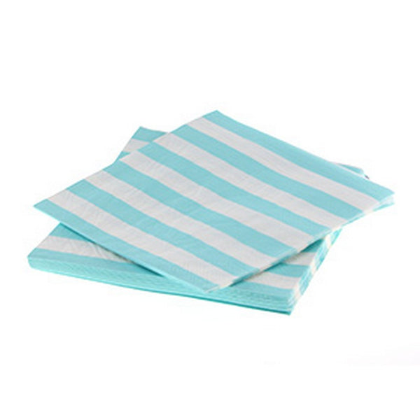 BLUE CANDY STRIPE NAPKINS (20 pack)