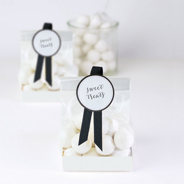 WHITE TREAT BAGS<br>(12 pack)