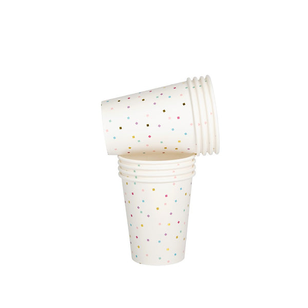 TINY SQUARE CONFETTI <BR>CUPS (10 pack)